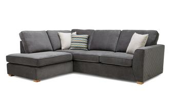 Right Hand Facing Arm Open End Deluxe Corner Sofa Bed Plaza