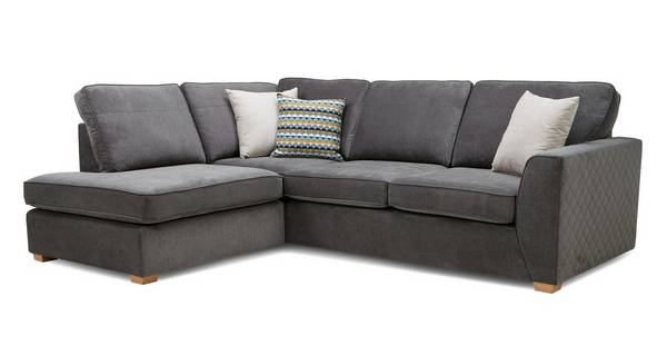 Mahiki Right Hand Facing Arm Open End Deluxe Corner Sofa Bed