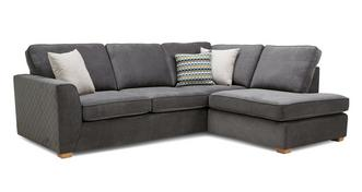 Mahiki Left Hand Facing Arm Open End Deluxe Corner Sofa Bed