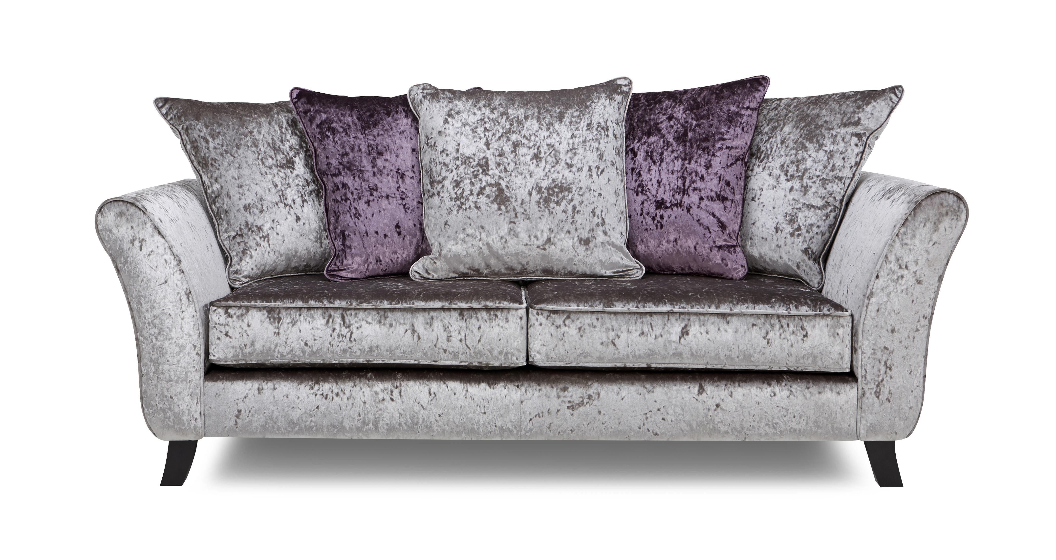 Maie 3 Seater Pillow Back Sofa Krystal