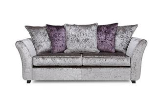 3 Seater Pillow Back Deluxe Sofabed Krystal