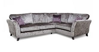 Maie Left Hand Facing 2 Seater Formal Back Corner Sofa