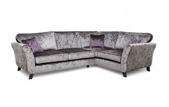 Left Hand Facing 2 Seater Formal Back Corner Sofa Krystal