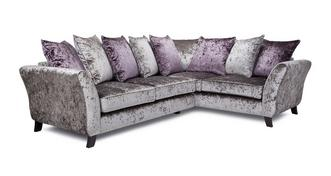 Maie Left Hand Facing 2 Seater Pillow Back Corner Sofa