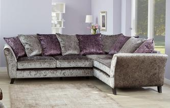 Maie Left Hand Facing 2 Seater Pillow Back Corner Sofa Krystal