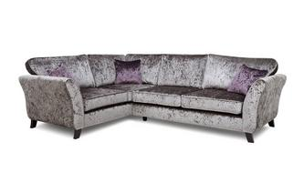 Right  Hand Facing 2 Seater Formal Back Corner Sofa Krystal