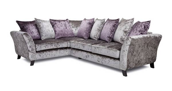 Maie Right  Hand Facing 2 Seater Pillow Back Corner Sofa