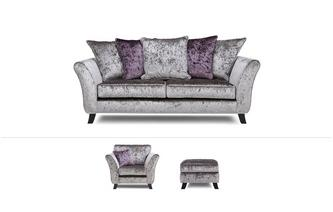 3 Seater, Standard Chair & Footstool