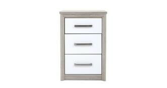 Maine 3 Drawer Bedside Chest