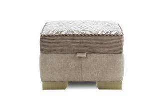 Pattern Top Storage Footstool