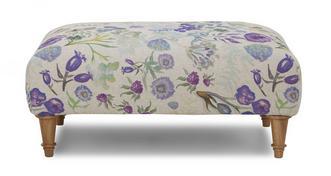 Malvern Floral Banquette Footstool