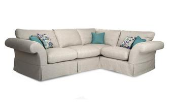 Plain Left Hand Facing 3 Seater Corner Sofa