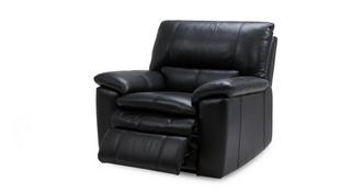 Mantra Leather and Leather Look Manual Recliner Chair