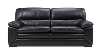 Mantra Leather and Leather Look 3 Seater Sofa