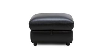 Mantra Leather and Leather Look Storage Footstool