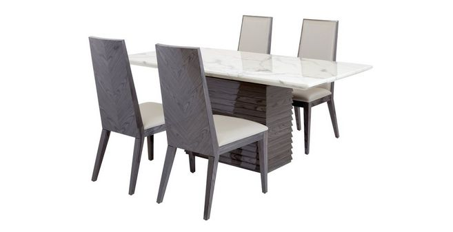 Awe Inspiring Mara Dining Table Set Of 4 Dining Chairs Ncnpc Chair Design For Home Ncnpcorg