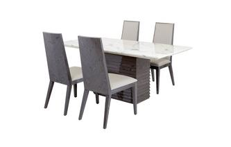 Dining Table & Set of 4 Dining Chairs Mara