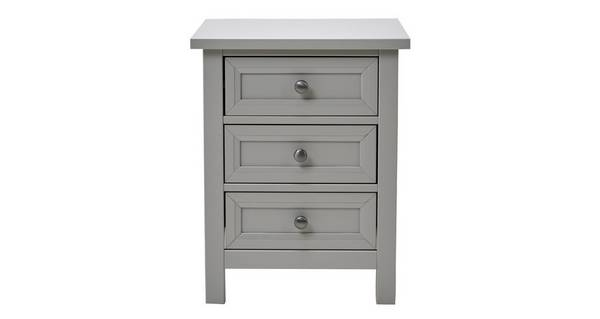 Marina 3 Drawer Bedside Table