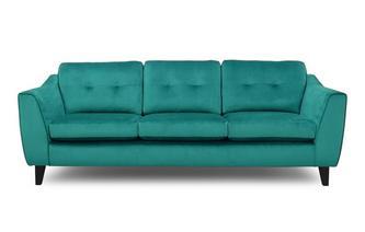 Velvet 4 Seater Sofa Removable Arm
