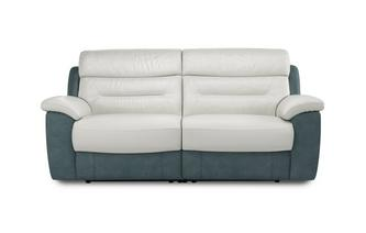 Mario 3 Seater Manual Recliner Bacio Vellutato
