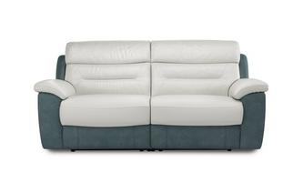 Mario 3 Seater Electric Recliner Bacio Vellutato