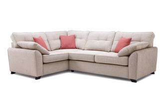 Markel Right Hand Facing 3 Seater Deluxe Corner Sofa Bed KIrkby Plain