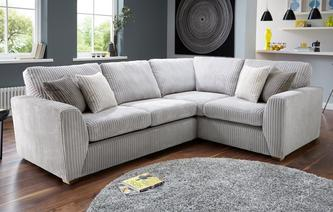 Marley Left Hand Facing 2 Seater Deluxe Corner Sofa Bed Marley
