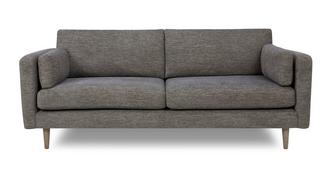 Marl Fabric Weave Fabric 4 Seater Sofa