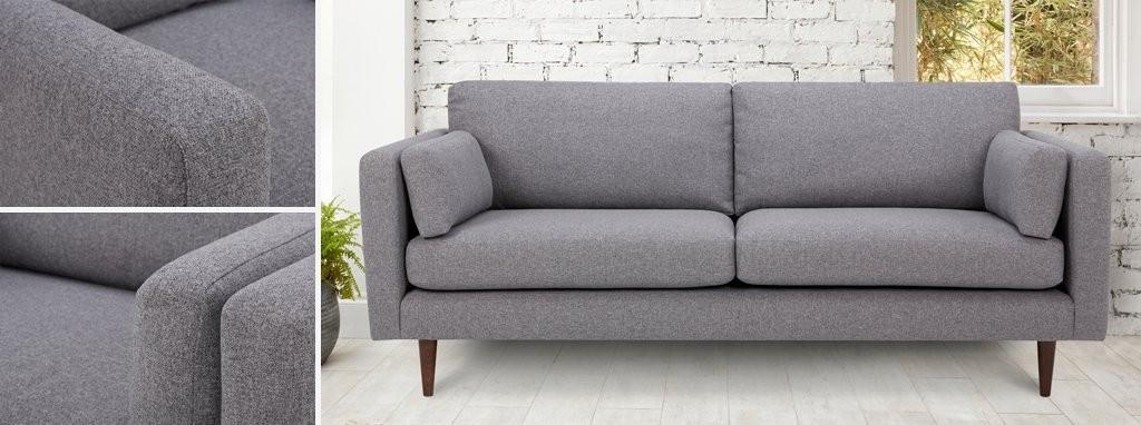 Marl Fabric Weave Fabric 4 Seater Sofa Marl Weave Dfs