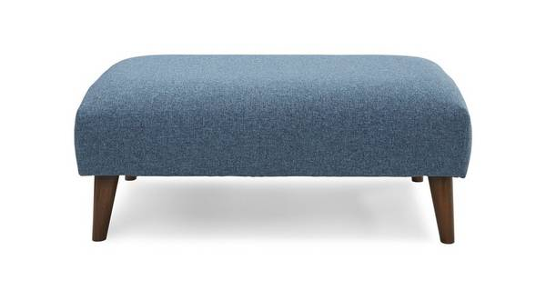 Marl Fabric Large Bench Footstool