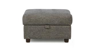 Marl Fabric Weave Fabric Storage Footstool