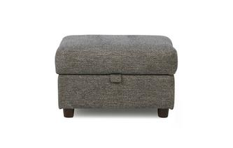 Weave Fabric Storage Footstool