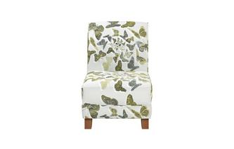 Pattern Accent Chair Escape Butterfly