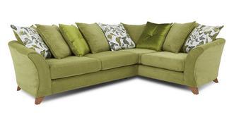 Marni Left Hand Facing 3 Seater Pillow Back Corner Sofa