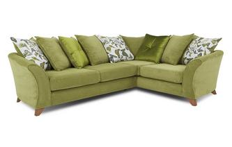 Left Hand Facing 3 Seater Pillow Back Corner Sofa Escape