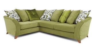 Marni Right Hand Facing 3 Seater Pillow Back Corner Sofa
