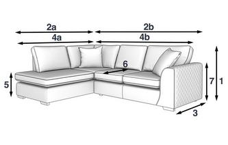 Marquee Right Hand Facing Arm Open End Corner Sofa Plaza Dfs