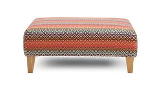 Marquee Pattern Banquette Footstool