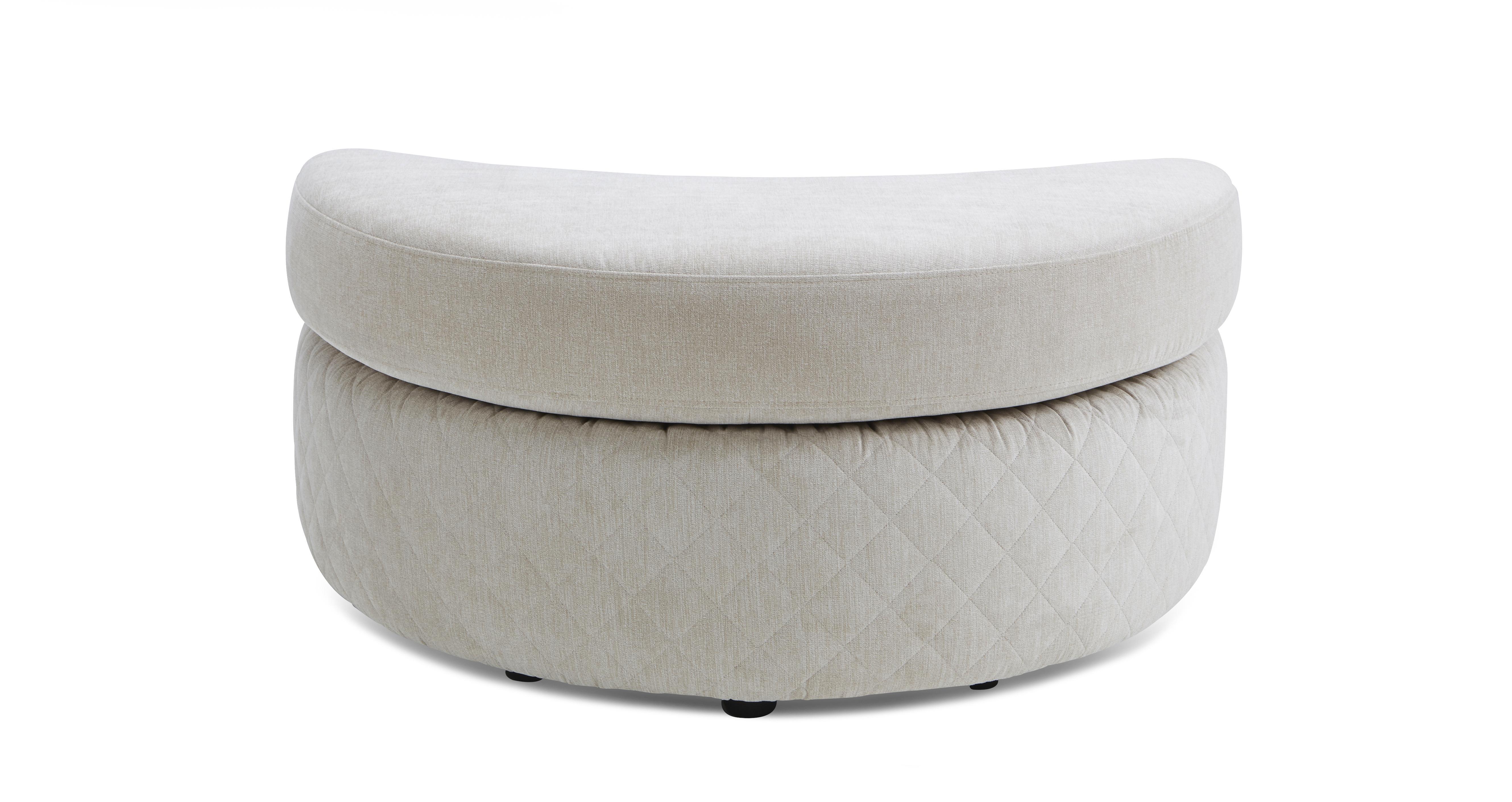 Pleasant Marquee Half Moon Footstool Machost Co Dining Chair Design Ideas Machostcouk