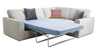 Marquee Left Hand Facing 2 Seater Deluxe Corner Sofa Bed