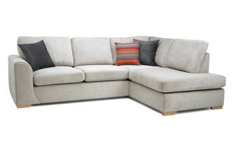 Left Hand Facing Arm Open End Deluxe Corner Sofa Bed Plaza