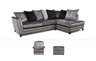 Marquise Clearance Corner Sofa, Accent Chair & Footstool Marquise