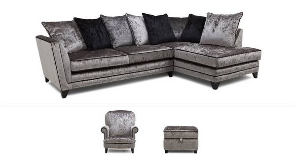 Marquise Clearance Corner Sofa, Accent Chair & Footstool