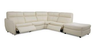 Marriott Option C Left Arm Facing Electric Corner Recliner Sofa