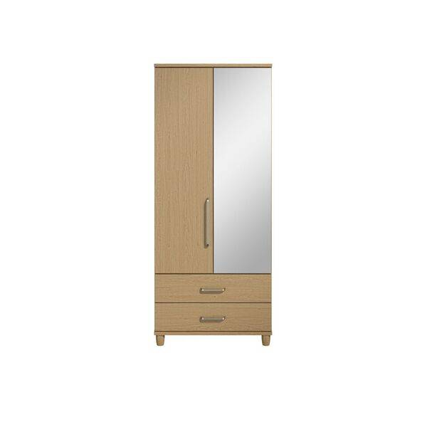 Marshall 2 Door Mirror Robe with Drawers