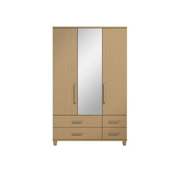 Marshall 3 Door Mirror Robe with Drawers