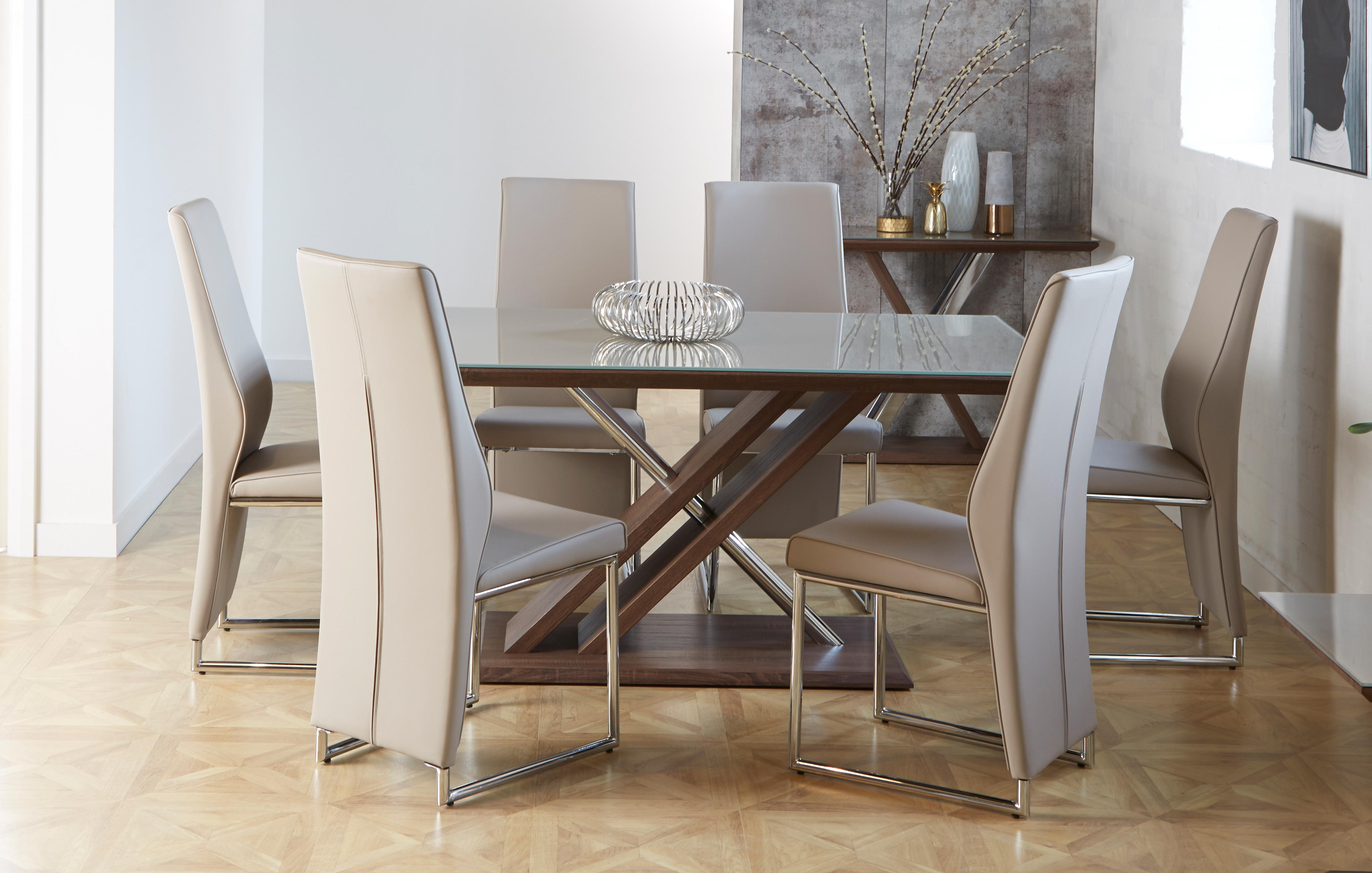 Marteni Fixed Top Table Set Of 4 Chairs