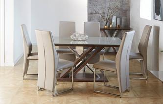 dining table and chairs glass top marteni fixed top table set of chairs dining tables and see all our sets dfs