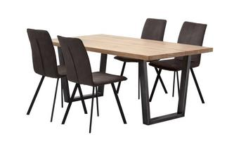 Fixed Top Table & 4 Fabric Chairs Mason