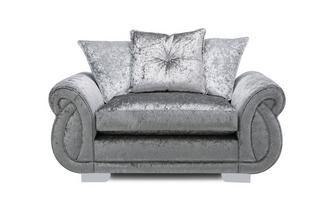 Pillow Back Cuddler Sofa Krystal